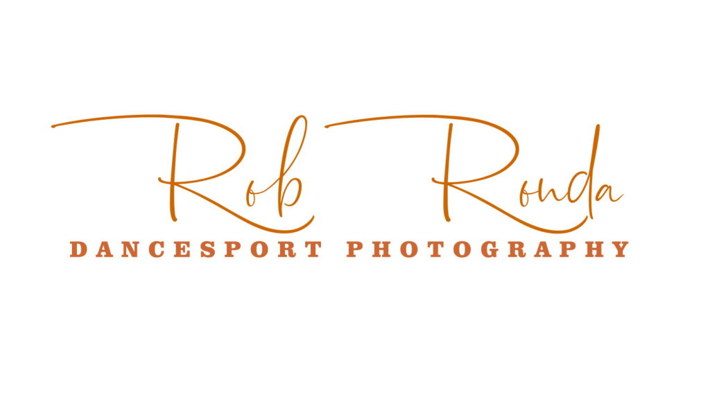 Logo Rob Ronda Dancesport Photography donker oranje